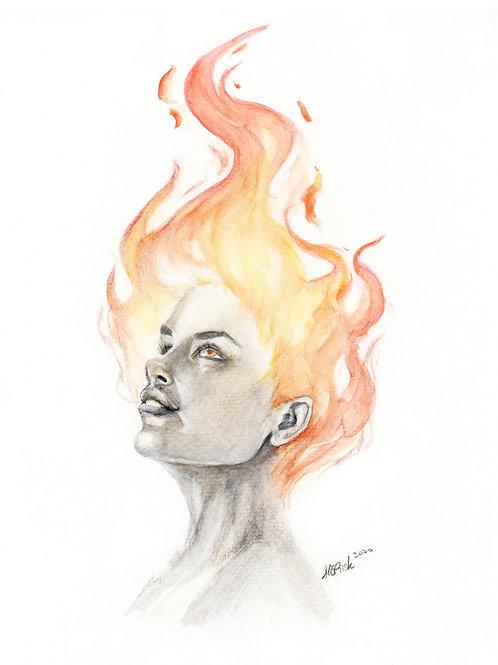 "The Fire - PRINT - 8.5""x11"""