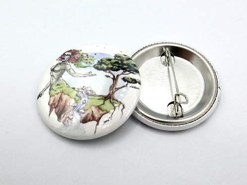 "Mother Nature - 1.5"" Button or Magnet"