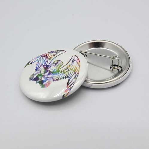 """W Woman - 1.5"""" Button or Magnet"""