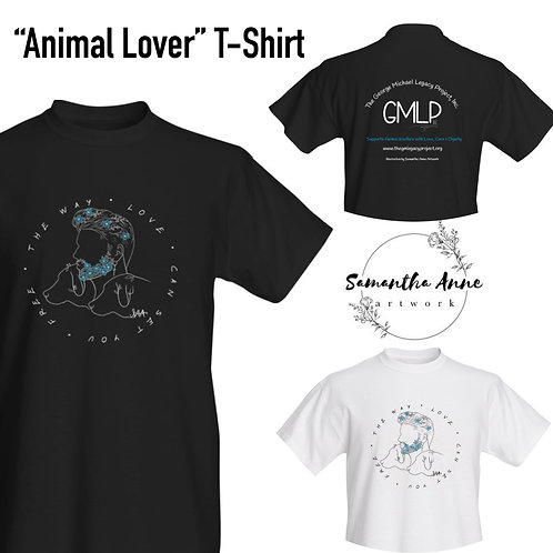 """Animal Lover"" Artist Tee-shirt"