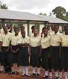 Some of the orphans at the high school.J