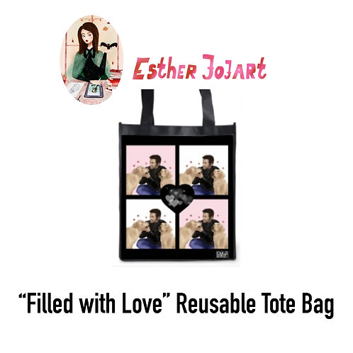 """Filled with Love"" Theme Reusable Tote"