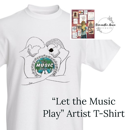 """""""Let the Music Play"""" Theme T-Shirt"""
