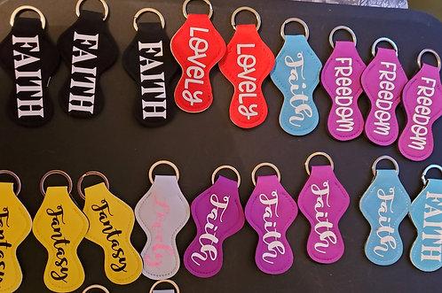 Lyric Chapstick Holder  Keychain