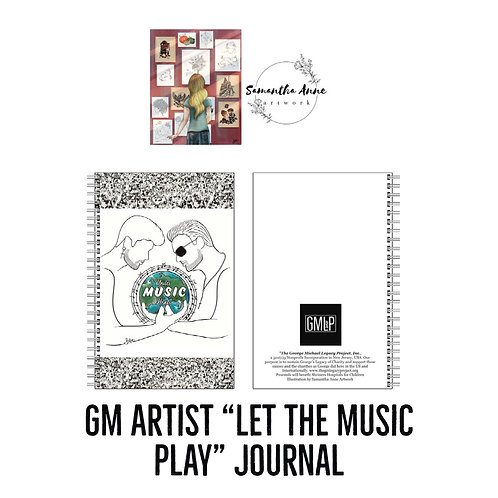 "GM Artist Illustration ""Let the Music Play"" Journal"
