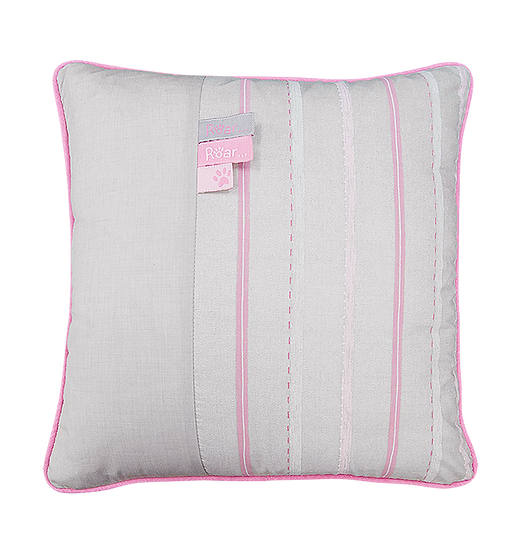 Pink Striped Pillow - Leopard Collection