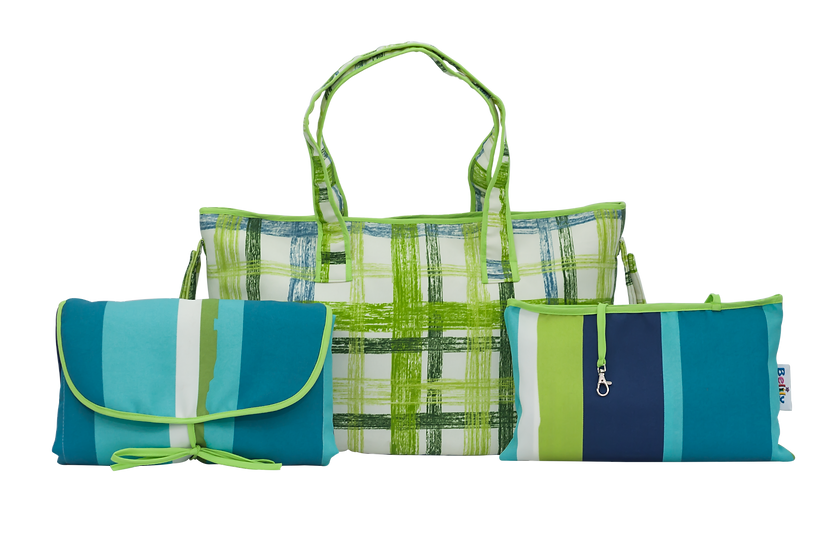 Shoppers Bag-Green Checkered