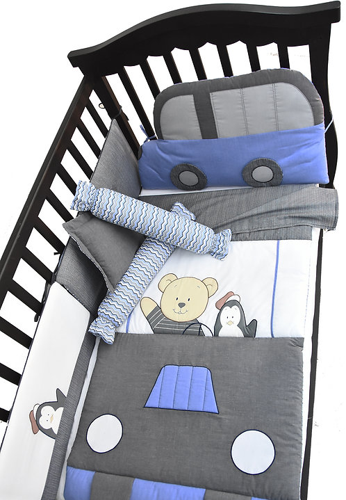 Crib Set (6 piece) - Little Driver Collection