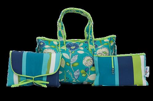 Diaper Bag - Blue Jardin