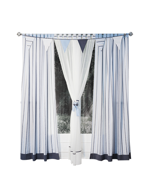 Curtain Voile - Train Collection