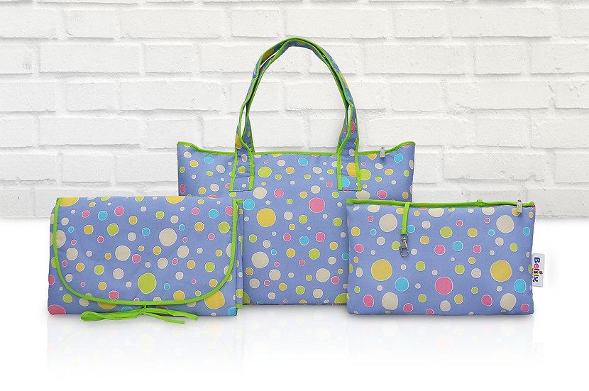 Shoppers Bag- Spots and Dots Design