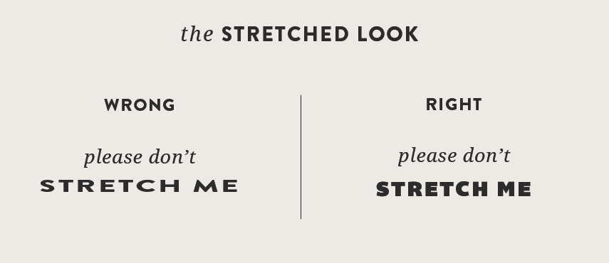 Streched text
