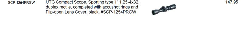 UTG compact scope