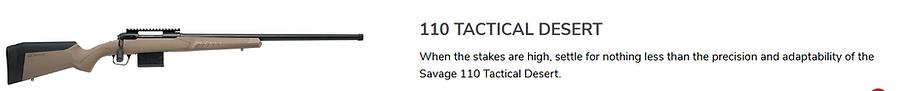 SAVAGE 110 Tactical Desert