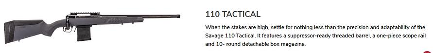 Savage 110 Tactical