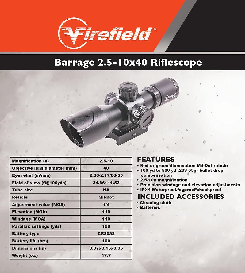 Firefield Barrage 2.5-10x40
