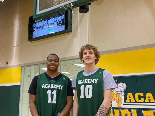 RUN AND SHOOT: Football talents translate to hoops as Cephus, Mraz help boost Academy playoff charge