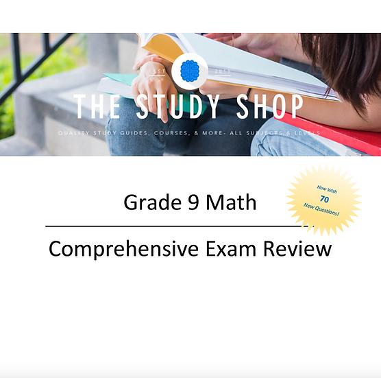 Grade 9 Math Comprehensive Exam Review