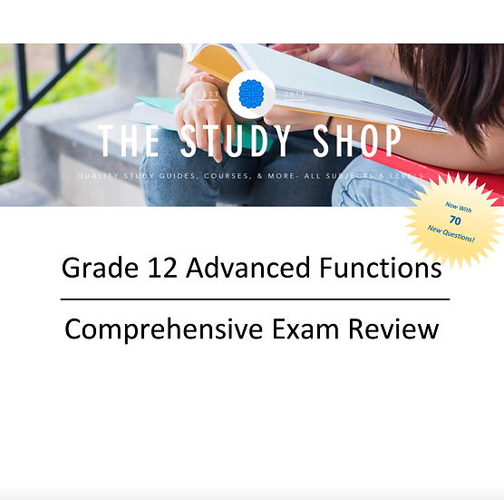 Grade 12 Advanced Functions Exam Review