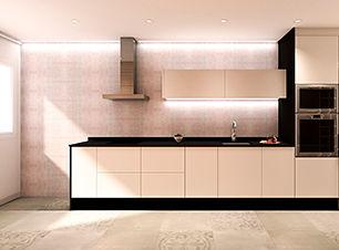 Proyecto de interiorismo para la reforma integral de un piso situado en Hospitalet de Llobregat.