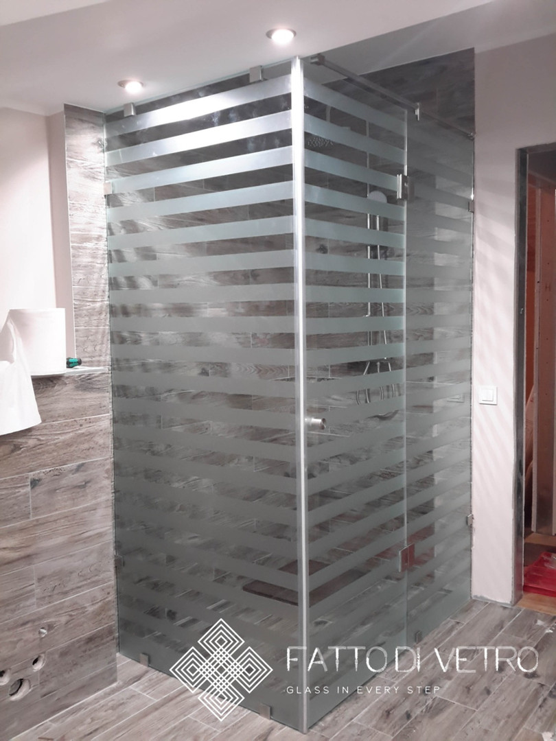 Glass shower.