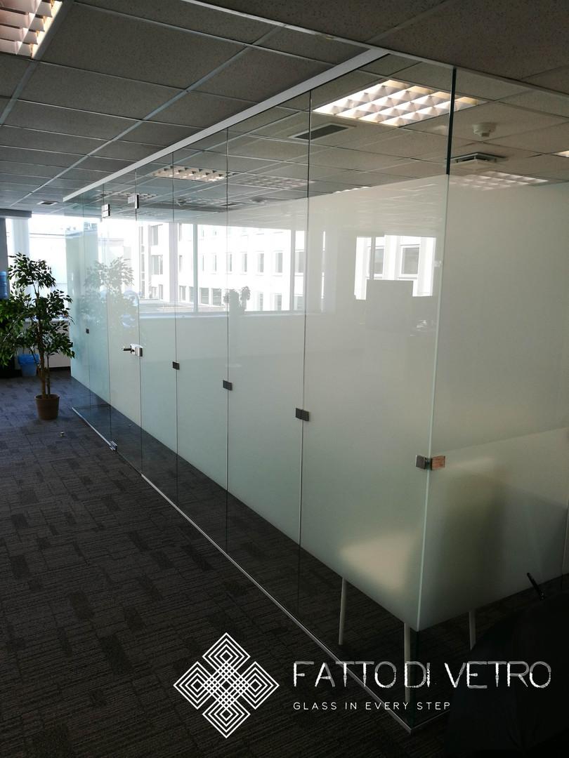 Glass wall.
