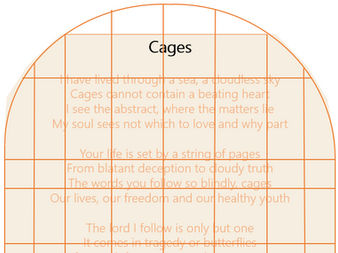 Sonnet by Isabella Alckmin: Cages