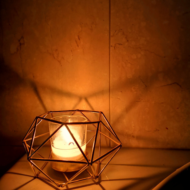 Bath by Candlelight- mood lighting