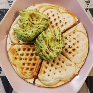 """Waffle iron quesadilla-Presentation tastes delicious"""