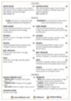The Buren menu page 2