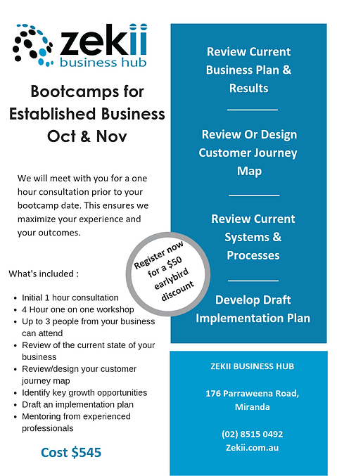 Bootcamps for Established Business A4 -