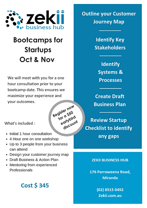 Bootcamps for Startups A4  with discount