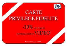 carte privilège fidélité 68 Point Com',