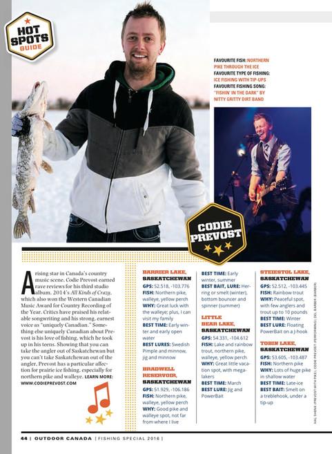 Prevost Featured In Outdoor Canada Magazine
