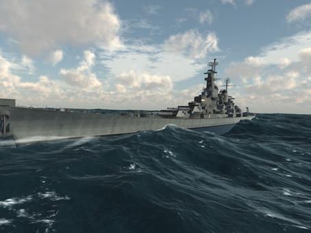 Korean War battleship and even better VR water