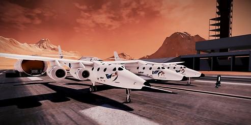 Space Station Mars Space Planes base vir