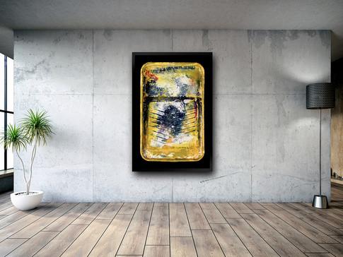 Bac à peinture, jaune