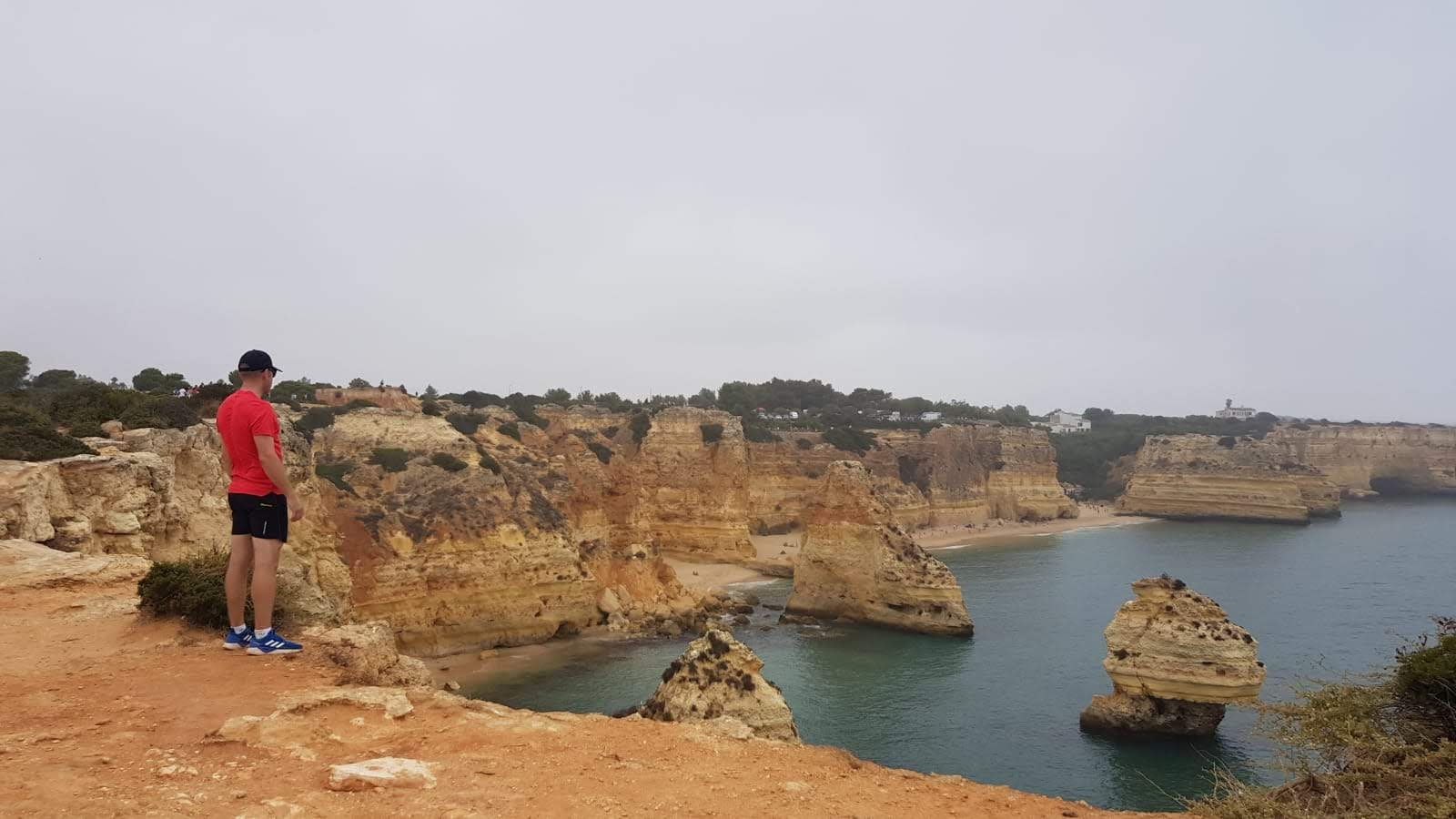 Looking out on the headland trail in the Algarve