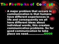 Fireworks of concepts