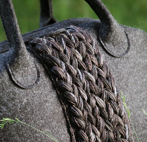 Handbags from Wool felt.