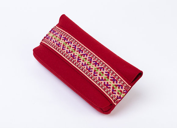 Feltstyle Clutch with Ornament