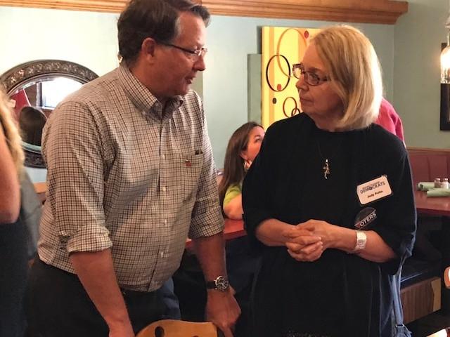 Judy Pelto with Sen. Peters