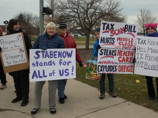 Stop the Tax Scam Rally a Success in TC