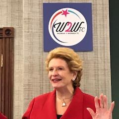 Sen. Stabenow Meets Woman2Woman TC