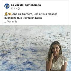 Ana Liz Cordero a plastic artist from Cuenca who triumphs in Dubai