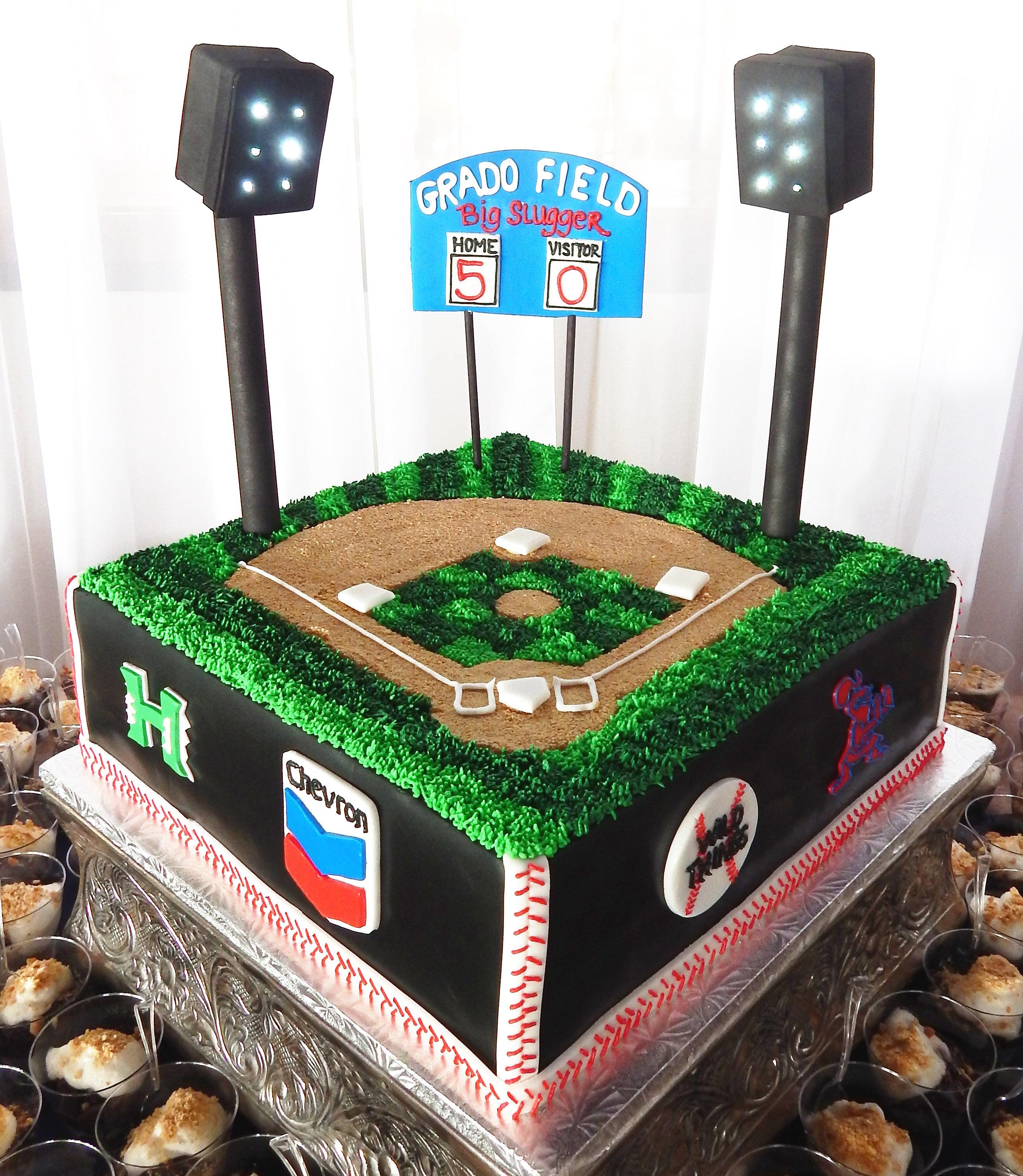 Miss Sweets Cakes Hawaii Custom Cakes 50th Birthday Baseball