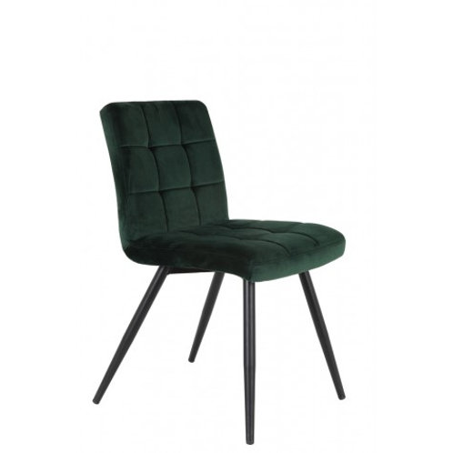 Chaise Olive velours