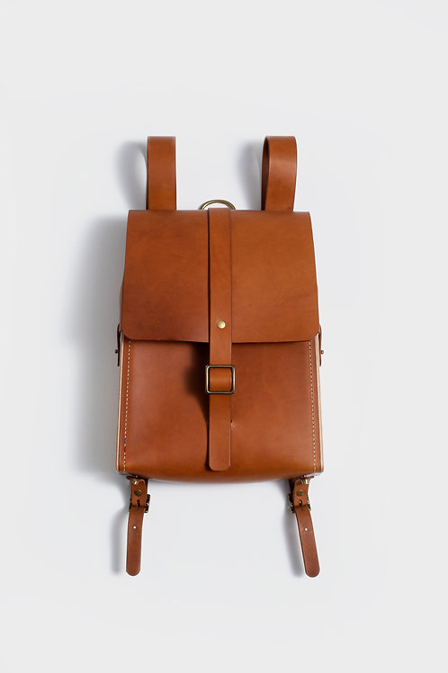 Le Porteur - sac à dos bois et cuir