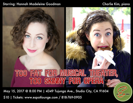 Too Fat for Musical Theater, Too Skinny for Opera - Promo Flyer