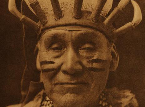 Obsidian bearer, White deerskin dance - Hupa, 1923 by Edward Curtis in Vol 13 of The North American